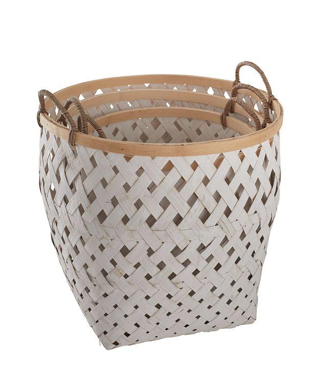 Kaine White Set Of 3 Basket (1)