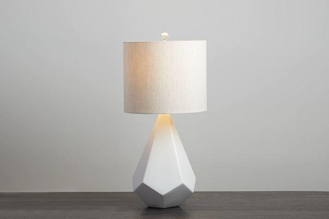 Delaney White Table Lamp (0)