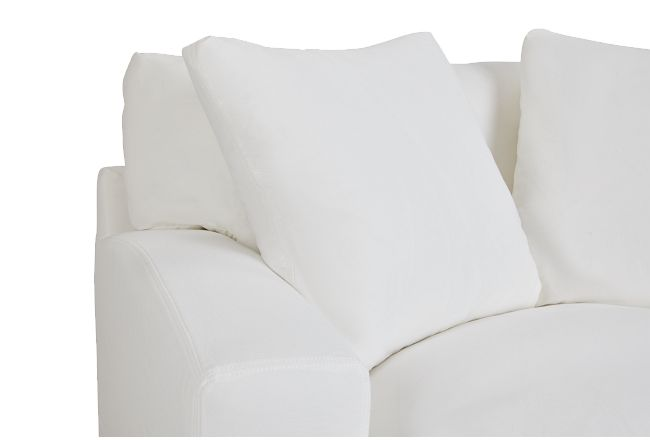 Delilah White Fabric Chair