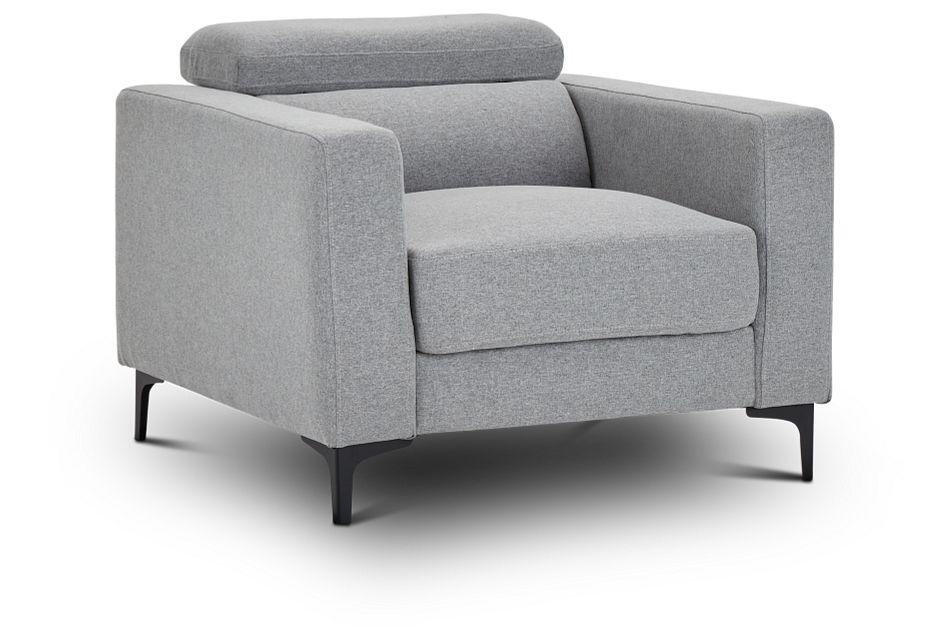 Trenton Light Gray Fabric Chair,  (1)