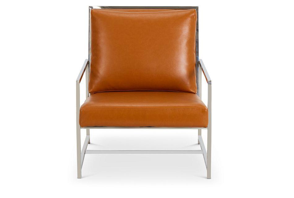 Harvey Medium Brown Uph Accent Chair,  (3)
