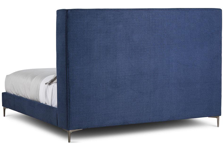 Holland Dark Blue Uph Platform Bed
