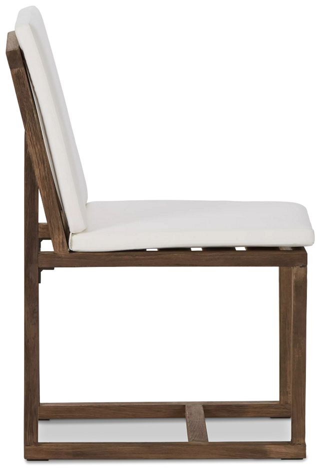 Linear Teak White Side Chair (1)