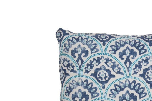 """Tomini Blue Fabric 18"""" Accent Pillow (3)"""