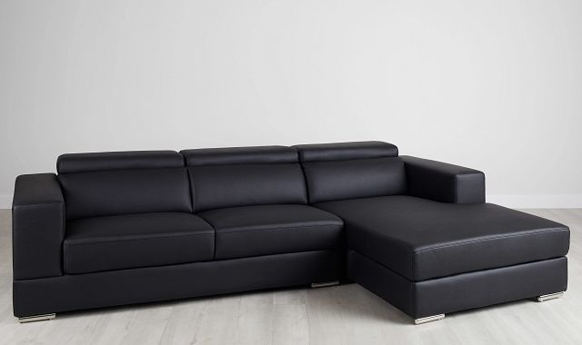 Maxwell Black Micro Right Chaise Sectional (0)