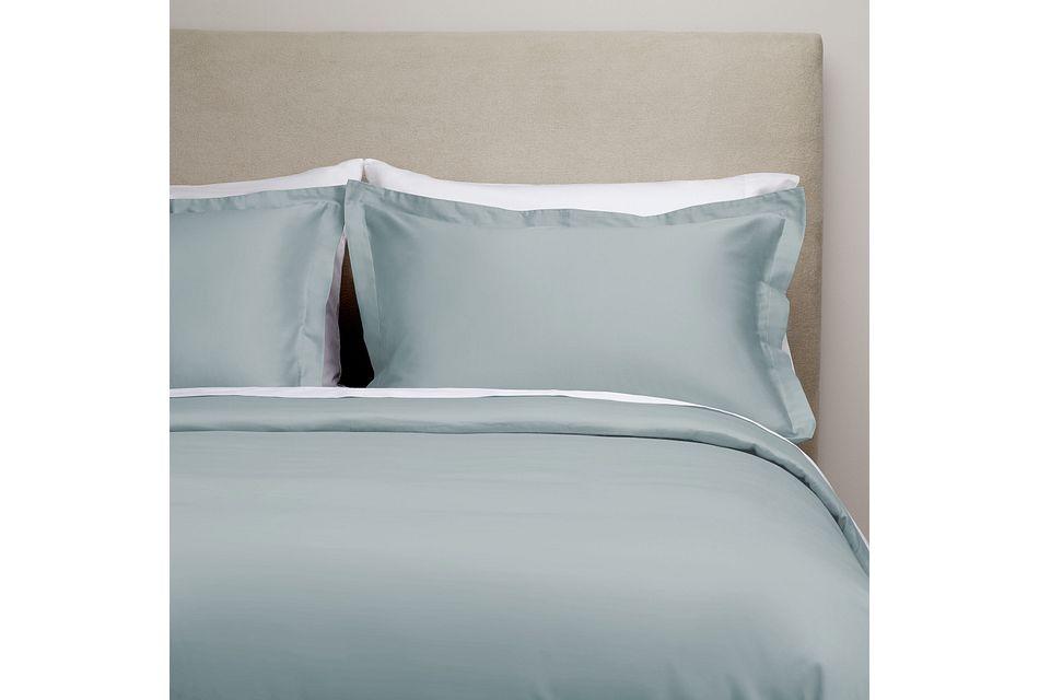 Organic Cotton Light Blue 300 Thread Duvet Set