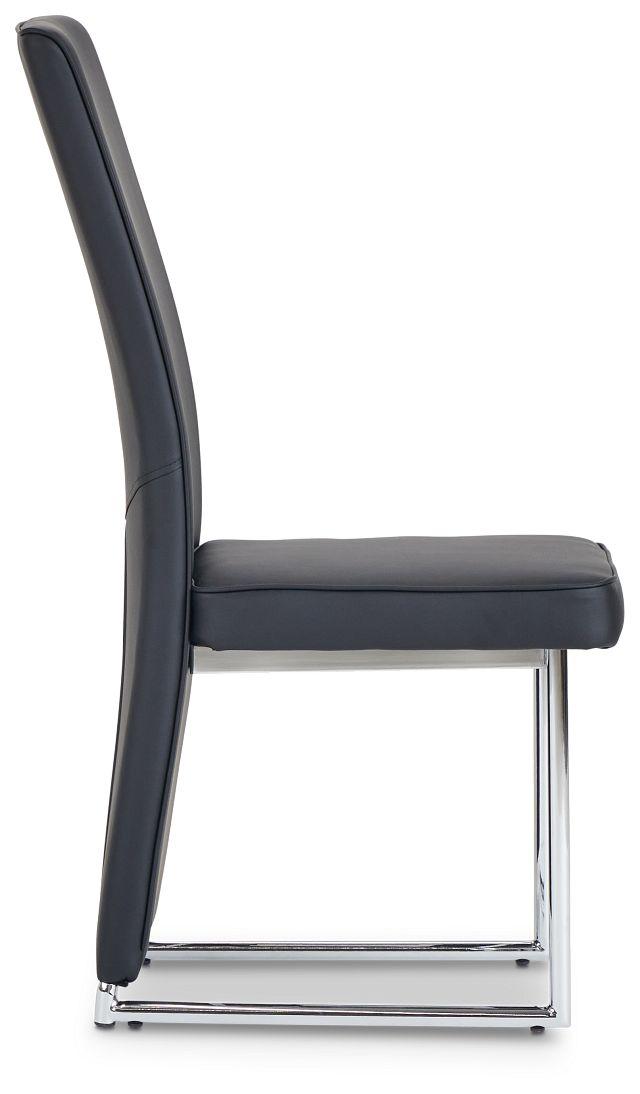 Paris Black Upholstered Side Chair (2)