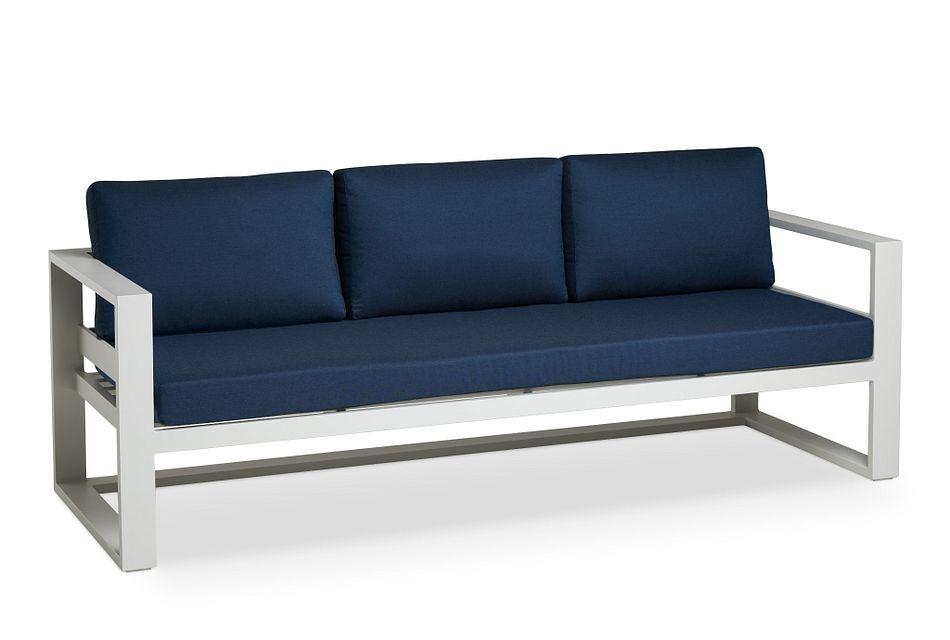 Lisbon Navy Aluminum Sofa