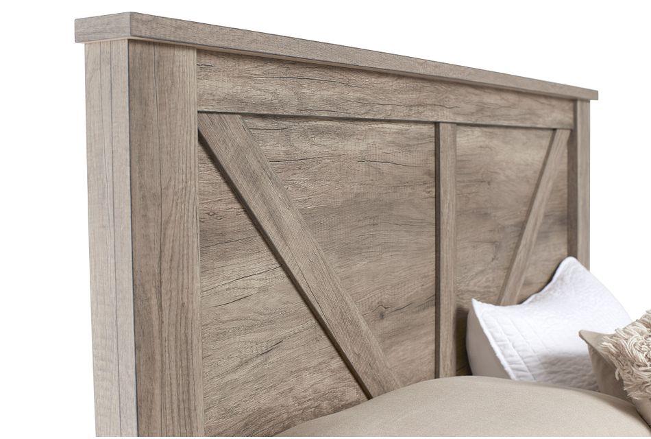 Shelton Light Tone Panel Bed
