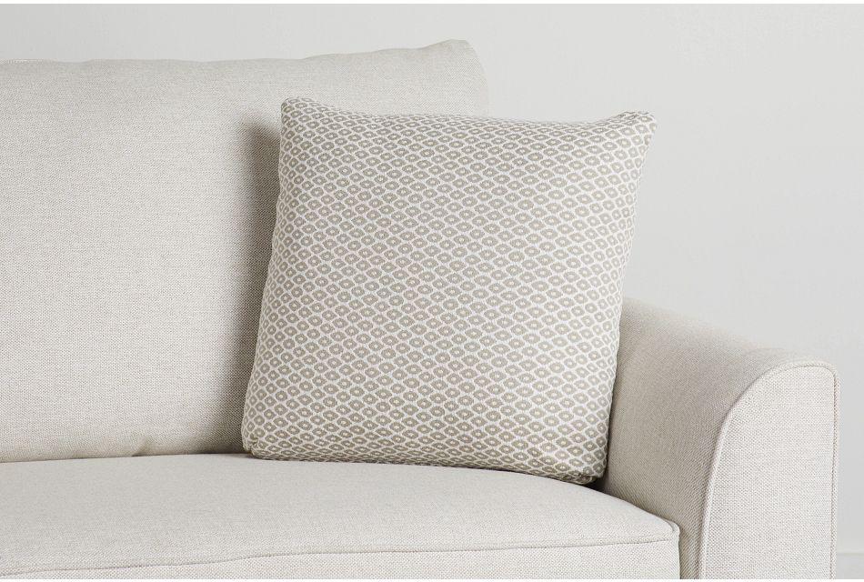 """Nimbus Beige Fabric 18"""" Accent Pillow,  (0)"""
