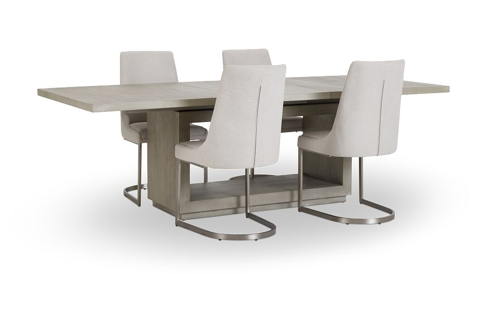 Madden Light Tone Rect Table & 4 Chairs
