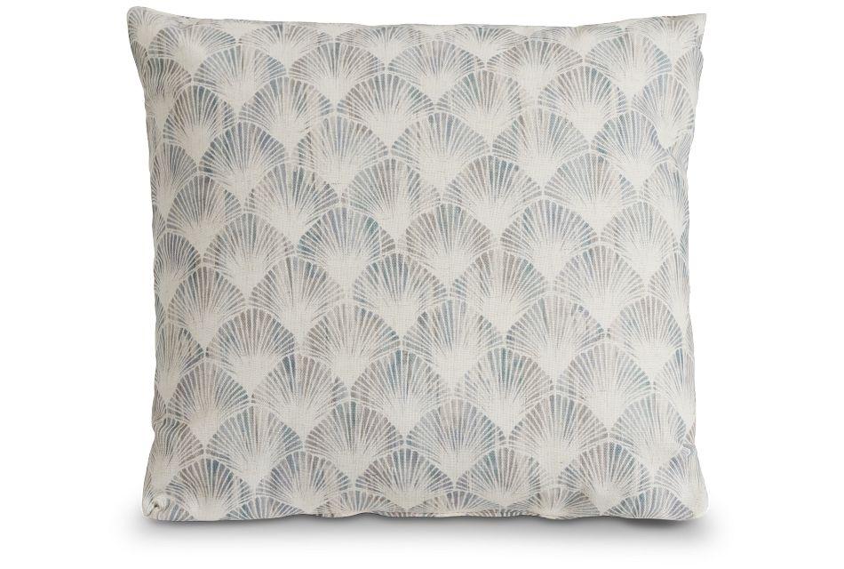 "Shell Green Fabric 20"" Accent Pillow,  (2)"