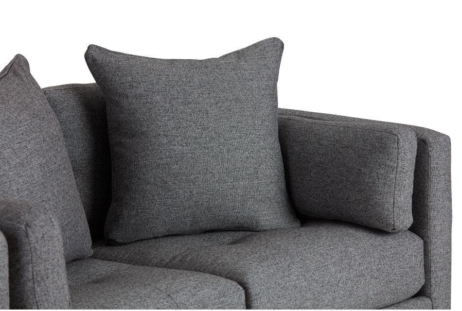 Casen Dark Gray Fabric Loveseat