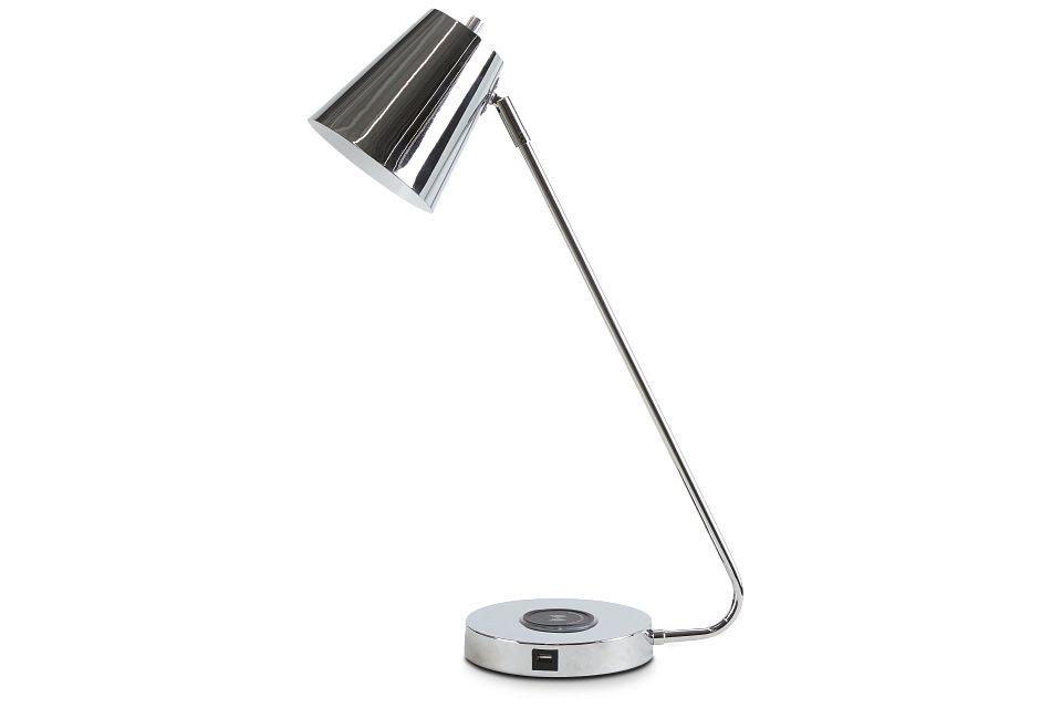 Kara Chrome Desk Lamp,  (1)