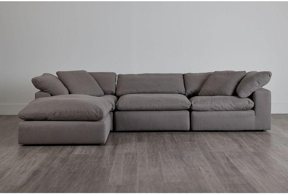 Nixon Light Gray Fabric 4-Pc Bumper Sect,  (0)