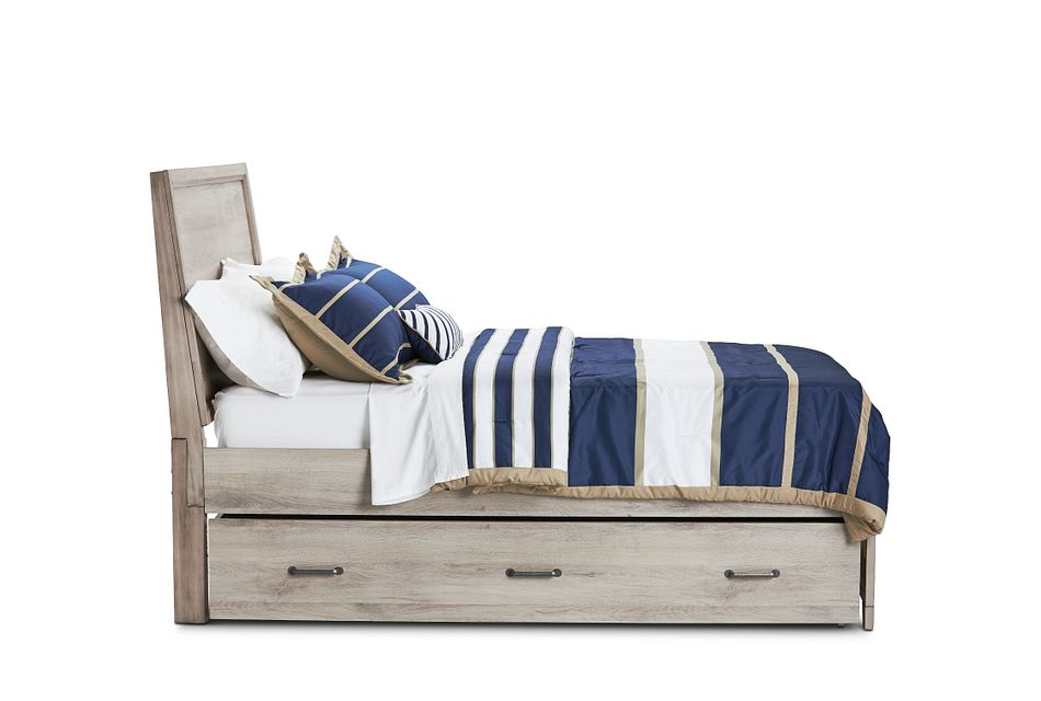 Rivercreek Gray Wood Panel Trundle Bed