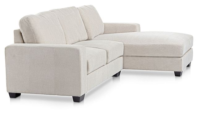 Estelle Beige Fabric Right Chaise Sectional (1)