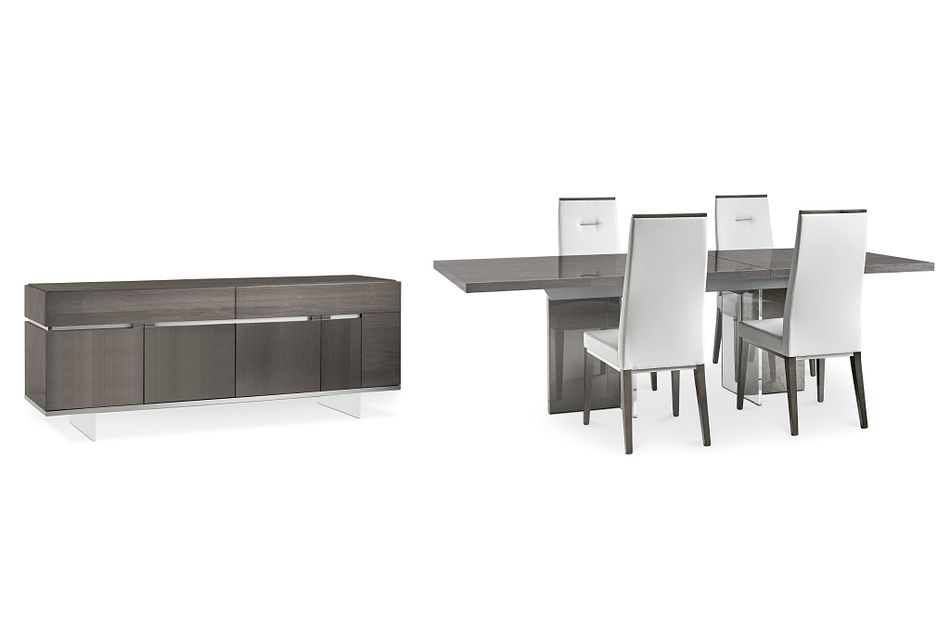 Athena Dark Gray Dining Room