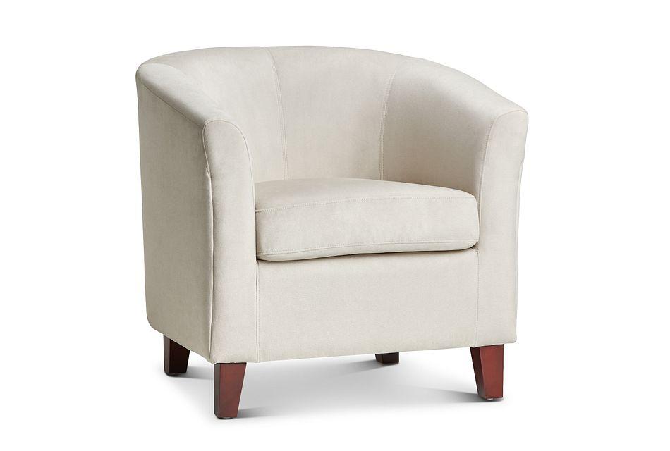 Concord Light Beige  Velvet Accent Chair,  (0)