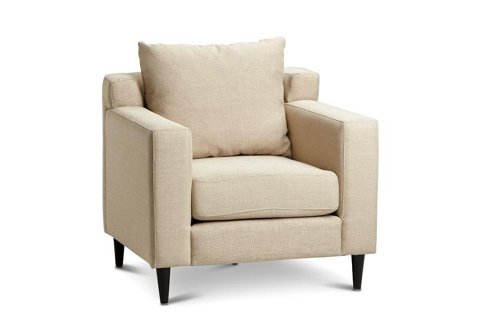 Novara Light Beige Fabric Accent Chair,  (0)