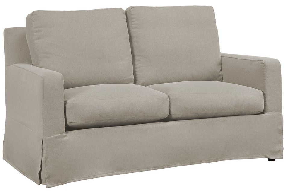 Bree Khaki Fabric Loveseat