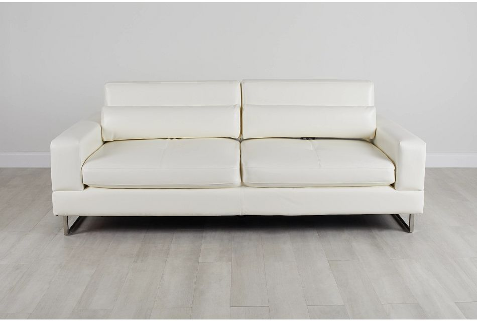 Alec White Micro Sofa