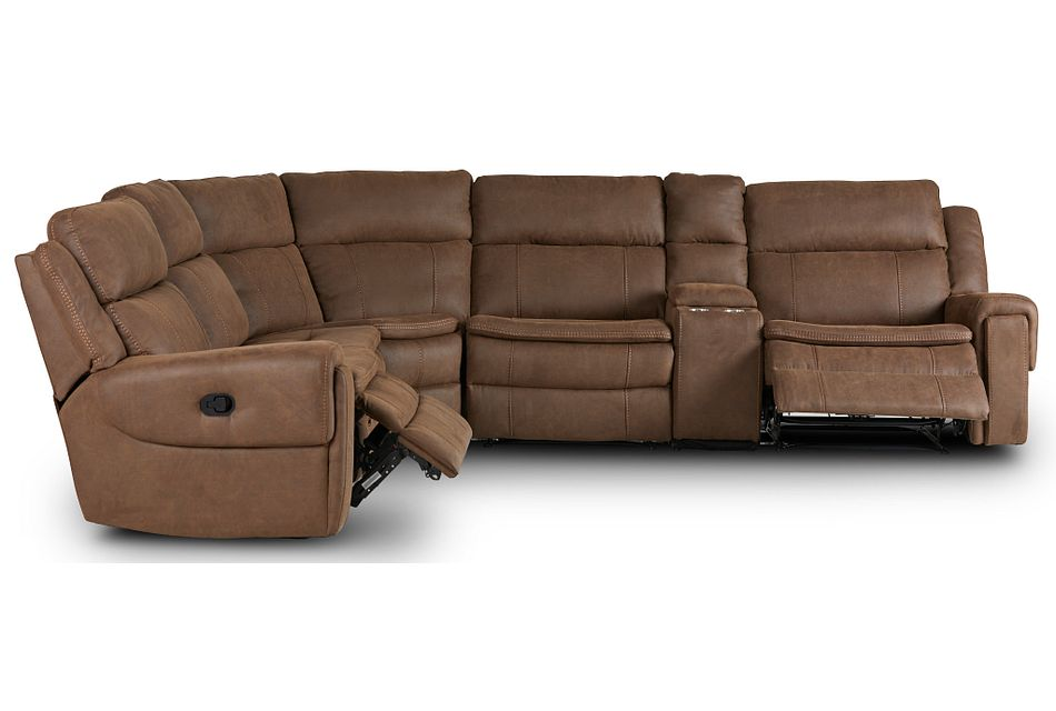 Scout Brown Micro Medium Dual Manual 2-arm Sectional