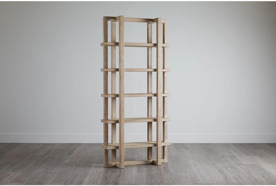 Hancock Light Tone Wood Bookcase,  (0)