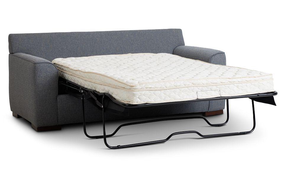 Austin Blue Fabric Innerspring Sleeper, Full (1)