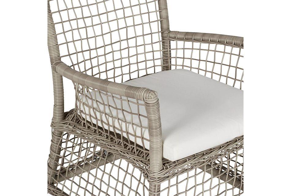 Raleigh White Woven Arm Chair
