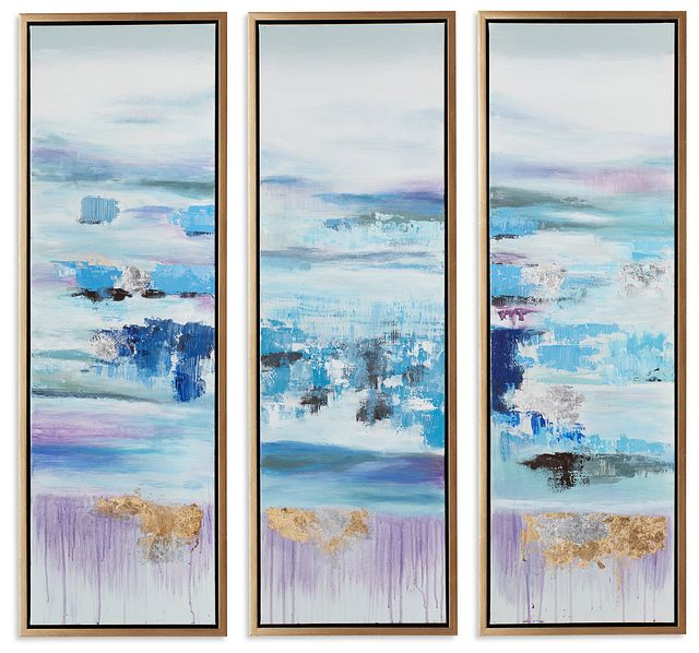 Athena Blue Set Of 3 Framed Canvas Wall Art (0)