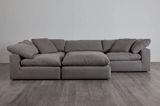 Nixon Light Gray Fabric 5pc Bumper Sectional (0)