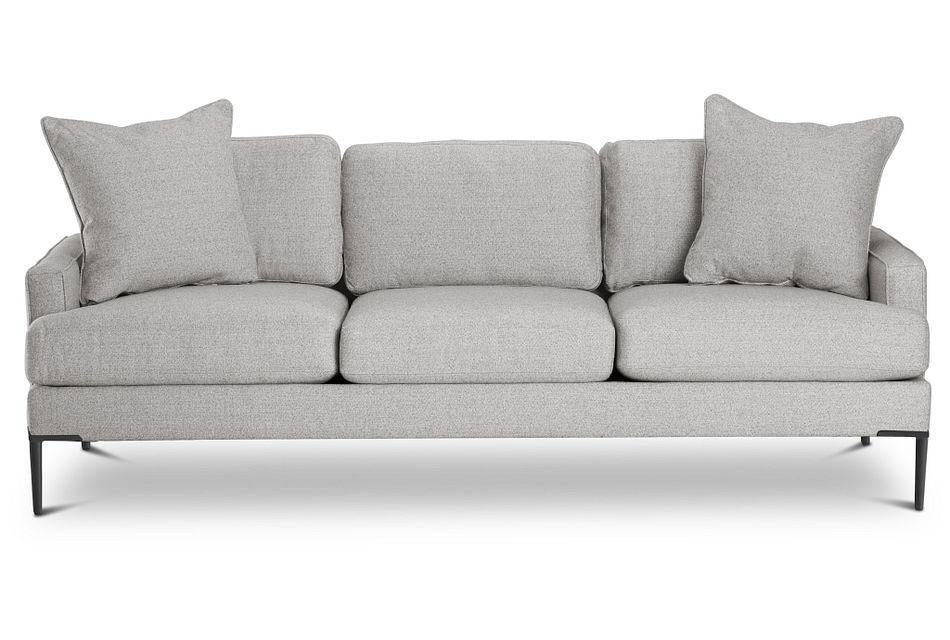 Morgan Light Gray  FABRIC Sofa with Metal Legs