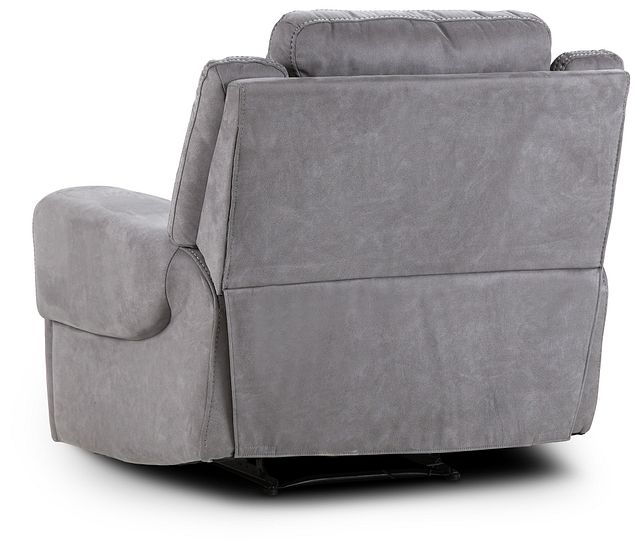 Scout Gray Micro Power Recliner With Power Headrest
