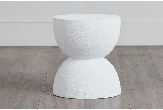 """Jacy White 18"""" Accent Table"""