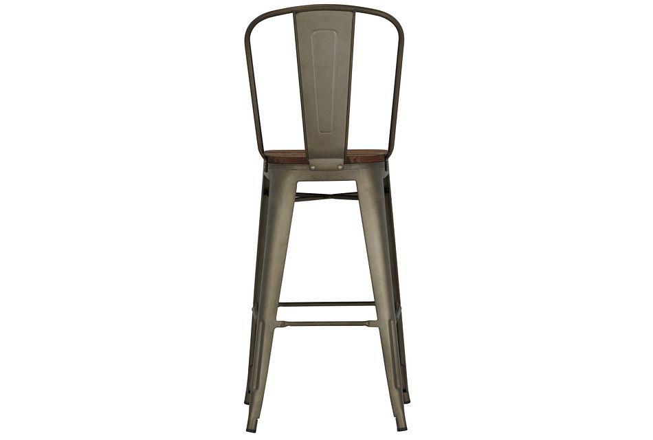 """Huntley Dark Tone 30"""" Wood Barstool"""