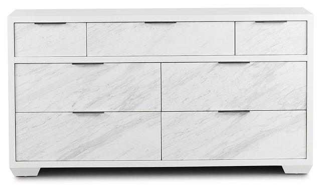 Ocean Drive White Marble Dresser (1)