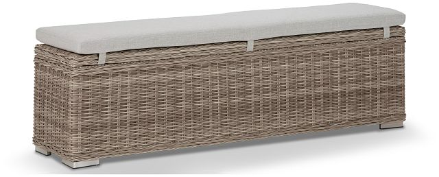 Raleigh Gray Woven Dining Bench (0)