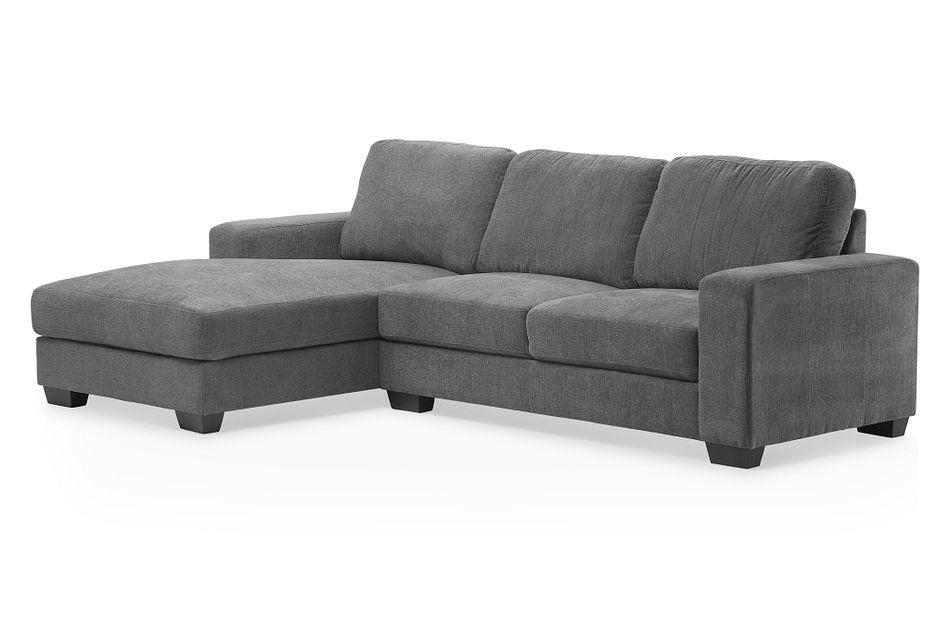 Estelle Dark Gray Fabric Left Chaise Sectional