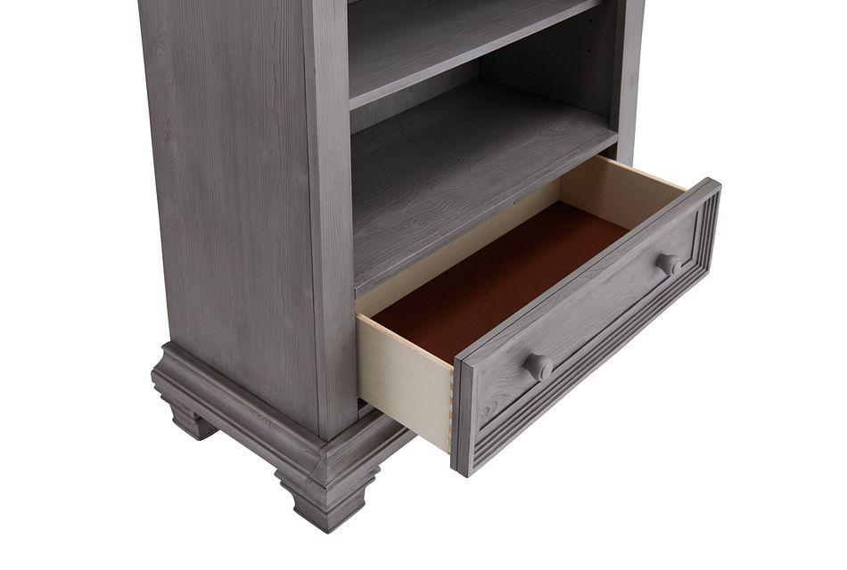 Westport Light Gray Bookcase