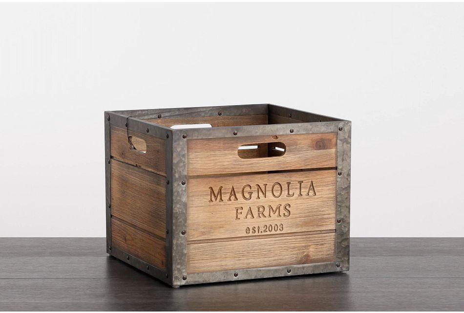 Magnolia Farms Wood Large Crate