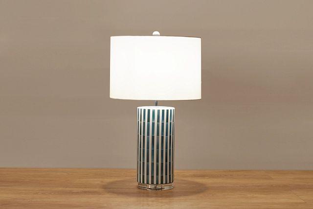 Liam Blue Ceramic Table Lamp (0)