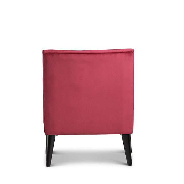 Angie Red Velvet Accent Chair (3)