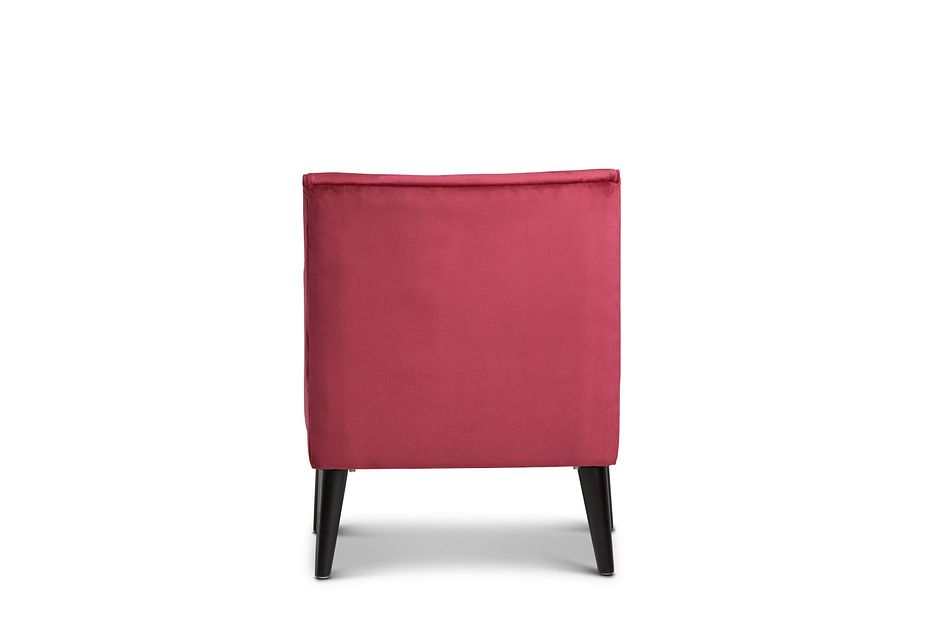 Angie Red Velvet Accent Chair