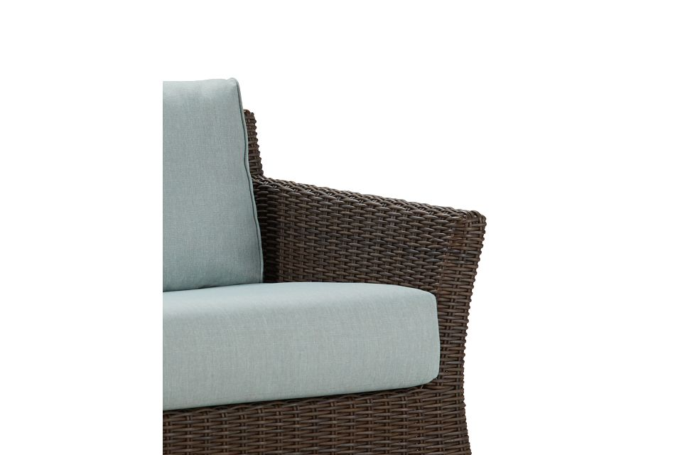 Southport Teal Woven Loveseat