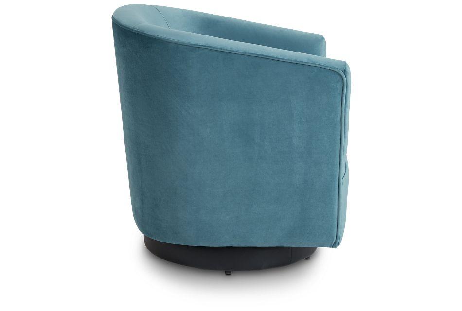 Charlotte Light Blue Velvet Swivel Accent Chair,  (2)