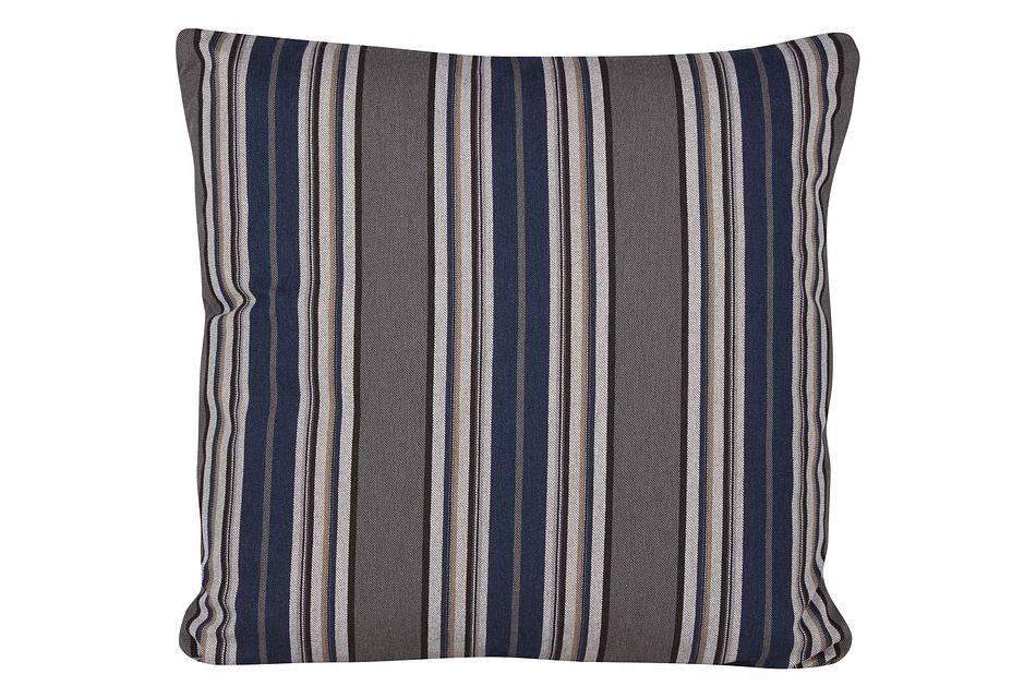 Amuse Blue Stripe Square Accent Pillow