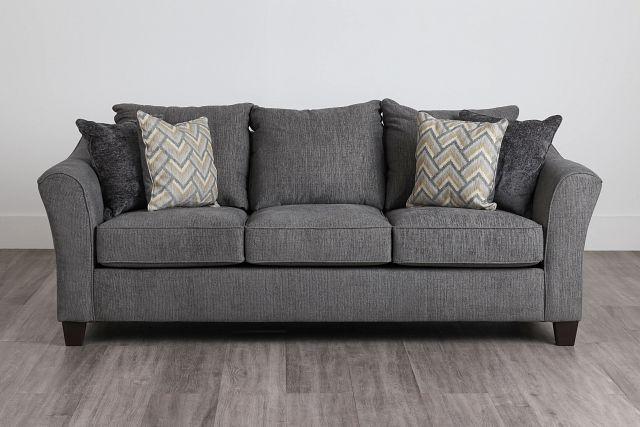 Maggie Dark Gray Fabric Sofa (0)