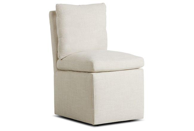 Auden Light Beige Castored Upholstered Side Chair