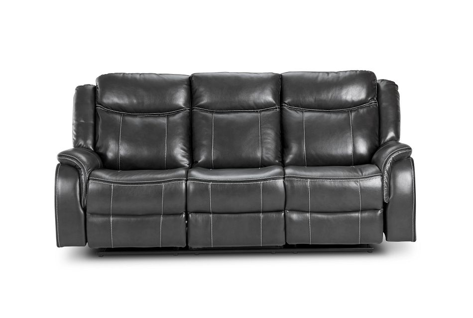 Lowe Dark Gray Micro Power Reclining Sofa